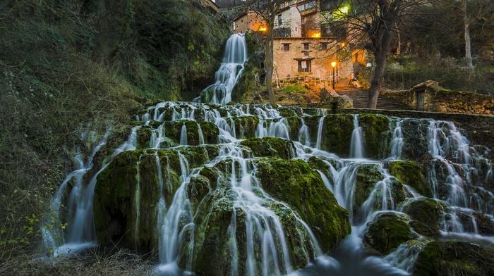 Spain, waterfall, orbaneja, del, castillo