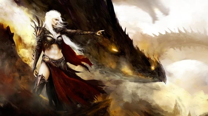 dragon, armor, artwork, fantasy art