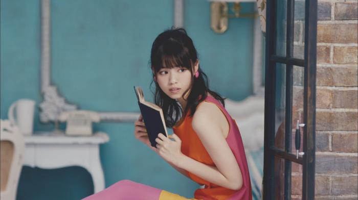 girl, Asian, looking away, brunette, brown eyes, black hair, Nogizaka46