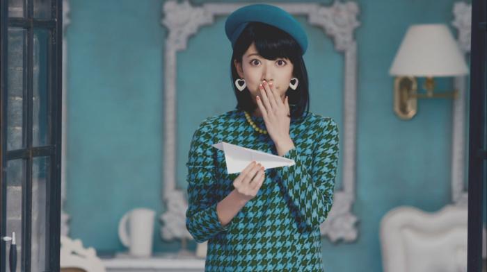 black hair, brown eyes, girl, Nogizaka46, hat, brunette, Asian