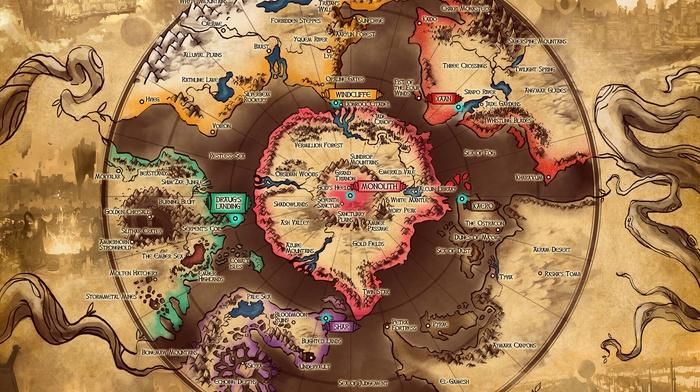 artwork, video games, map, Duelyst, digital art
