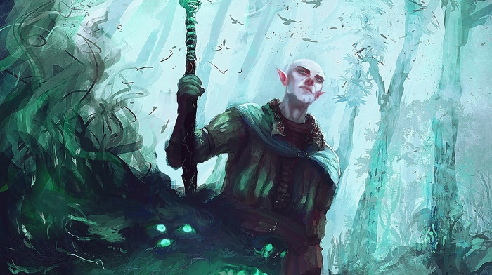video games, Dragon Age Inquisition, solas, artwork, Dragon Age