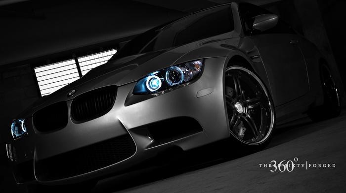 dark, BMW, car