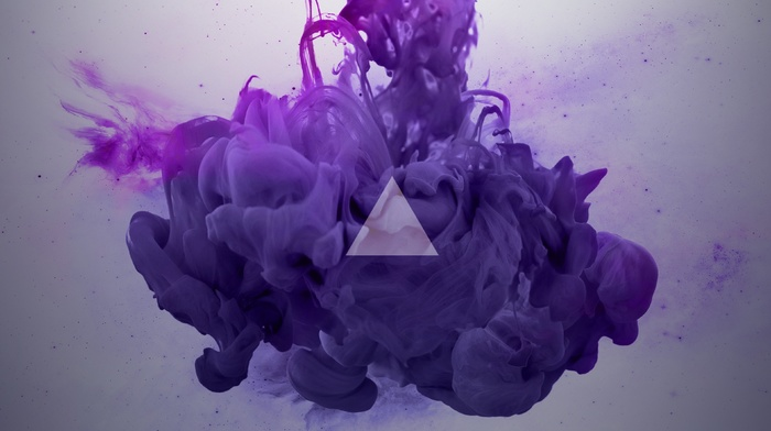 triangle, violet