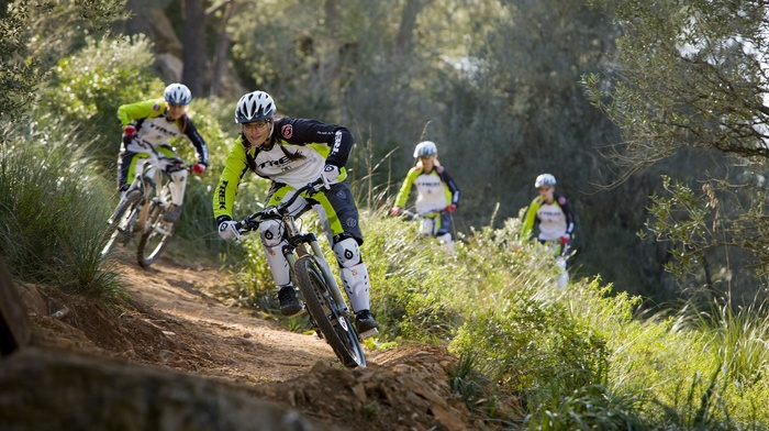 girl outdoors, mountain bikes, sports, bicycle, girl with bikes, sport, girl