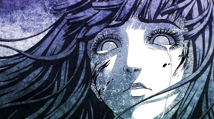 Naruto Shippuuden, artwork, anime, monochrome, Hyuuga Hinata, anime girls, crying