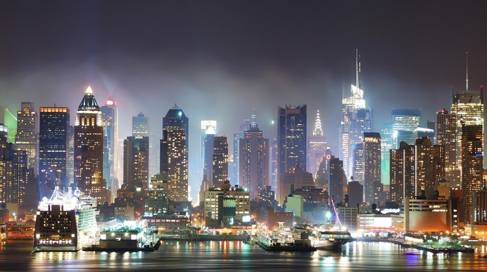 New York City, city, mist, jungle
