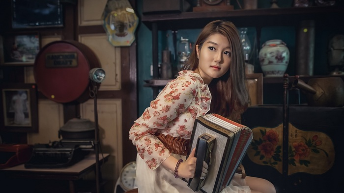Asian, music, girl