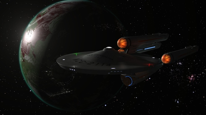 render, space, planet, Star Trek, artwork