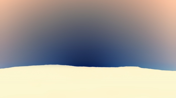 minimalism, clear sky, white, snow, winter, simple background, hills, nature