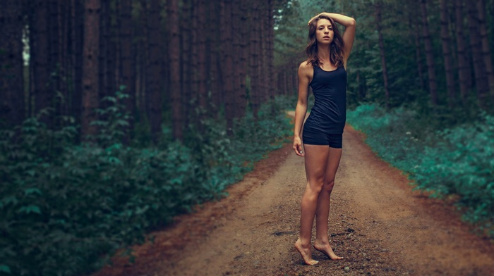 path, girl outdoors, girl, nature, model