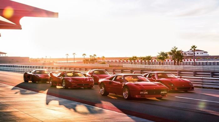 vehicle, car, Ferrari, red cars