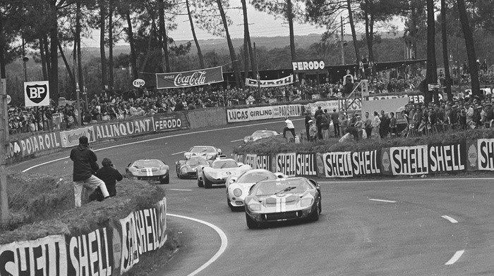 monochrome, racing, race tracks, Ford, car
