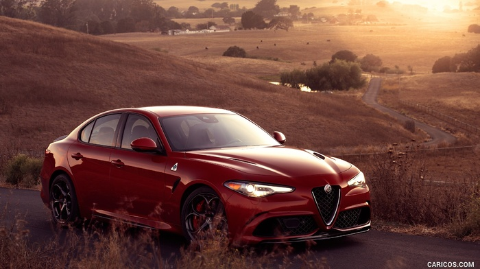 italian cars, Alfa Romeo, red cars, Alfa Romeo Guilia, car