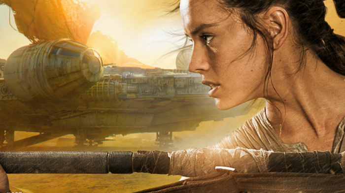 Rey, Star Wars The Force Awakens, Millennium Falcon, Daisy Ridley