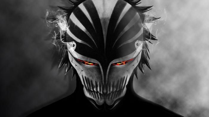 Arrancar, bankai, mask, Kurosaki Ichigo, anime, smoke, Bleach