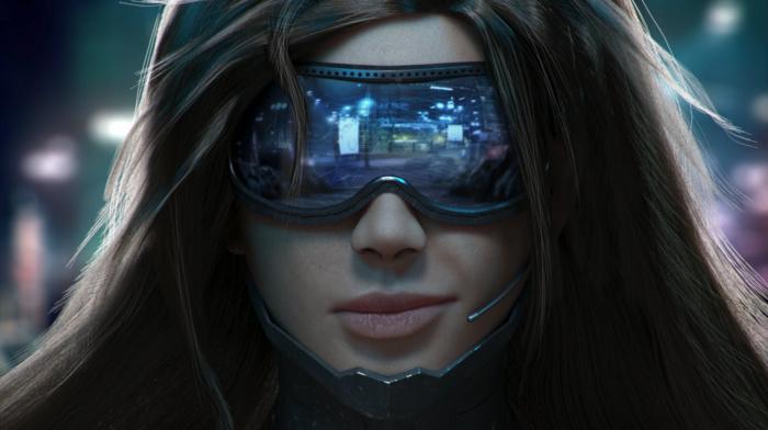 cyberpunk, fan art, girl, futuristic