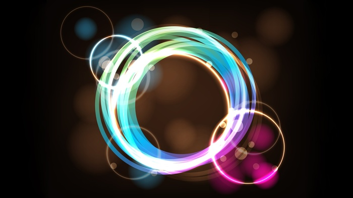 abstract, brown background, shapes, circle, colorful