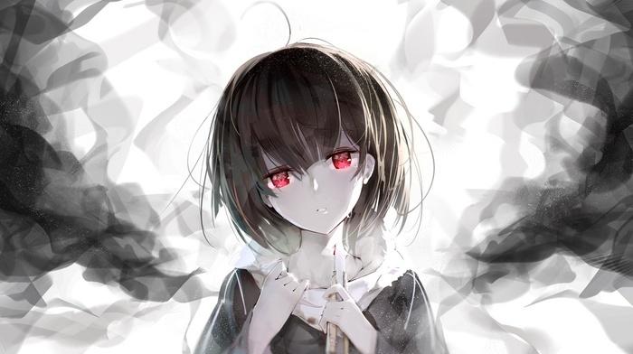 tears, red eyes, blood