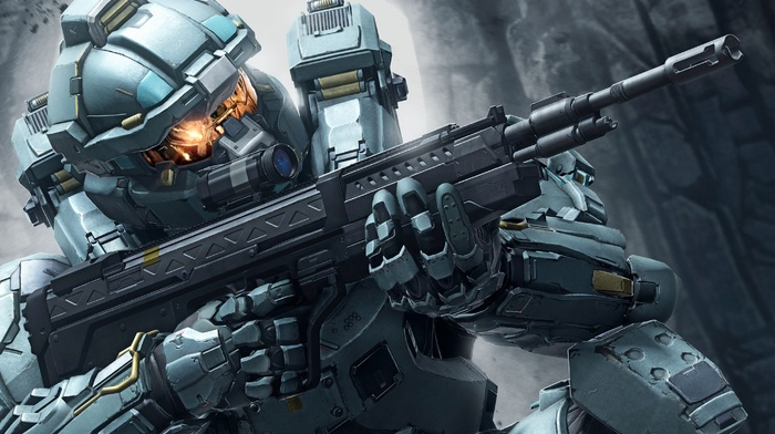 military, soldier, Halo 5 Guardians, weapon, video games, Halo 5, Fred, 104