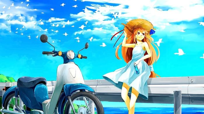 anime, Ibuki Suika, anime girls, touhou, horns