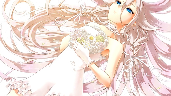 anime, anime girls, wedding dress, white dress, Vocaloid, ia vocaloid
