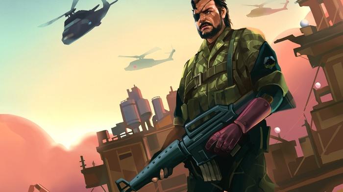 artwork, Big Boss, video games, Metal Gear Solid V The Phantom Pain, Metal Gear, Metal Gear Solid