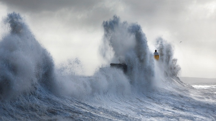 waves, storm, sea