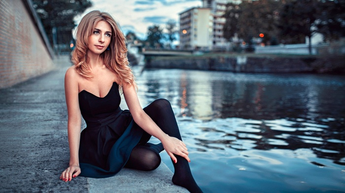 urban, model, girl outdoors, girl, city, Georgy Chernyadyev, river