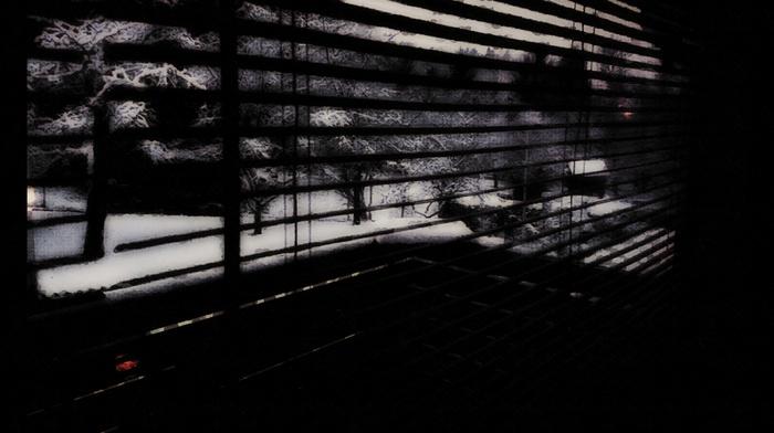 window, photo manipulation, dark