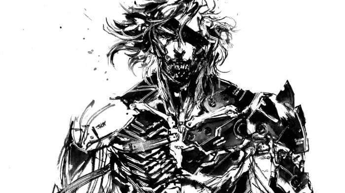 metal gear rising revengeance, raiden, Metal Gear, sketches