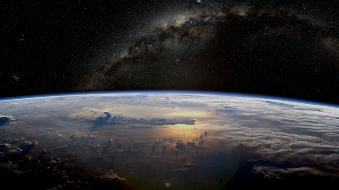 Earth, Milky Way, space