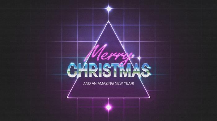 1980s, triangle, purple, Christmas