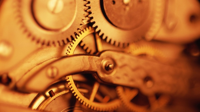gears, watch, technology, wheels, detailed, closeup, depth of field, screws, metal, clockwork