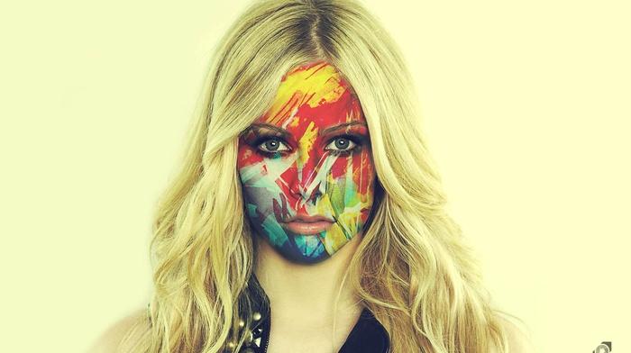 face, photoshop, rock stars, singing, Avril Lavigne, girl
