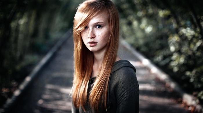 freckles, redhead, face