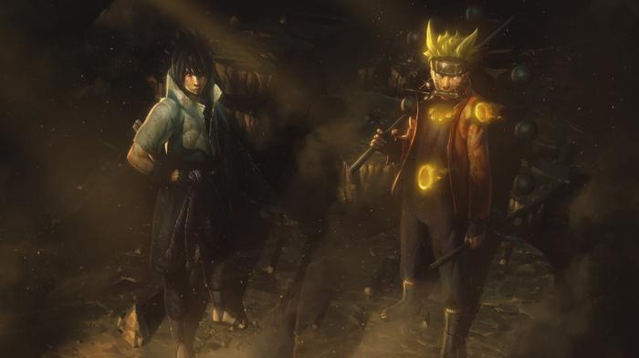 Uzumaki Naruto, Uchiha Sasuke, Naruto Shippuuden