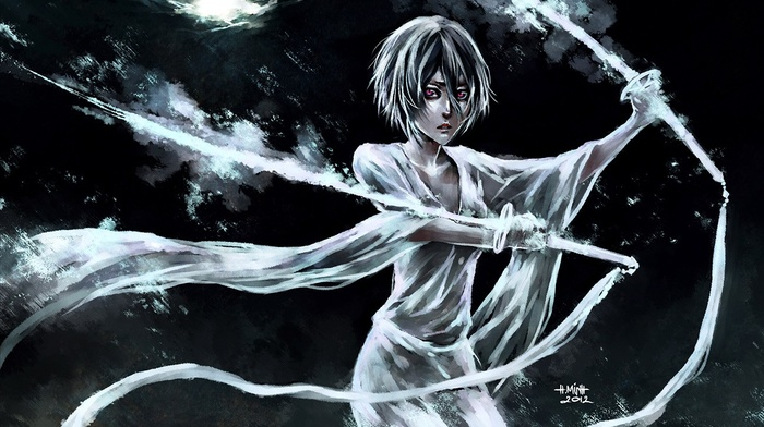 Kuchiki Rukia, Bleach, artwork, NanFe
