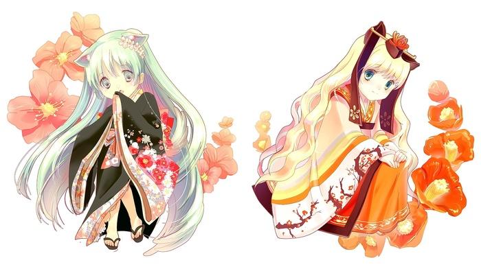 anime, Hatsune Miku, kimono, anime girls, Vocaloid, SeeU