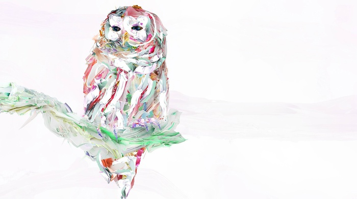 owl, painting, nature