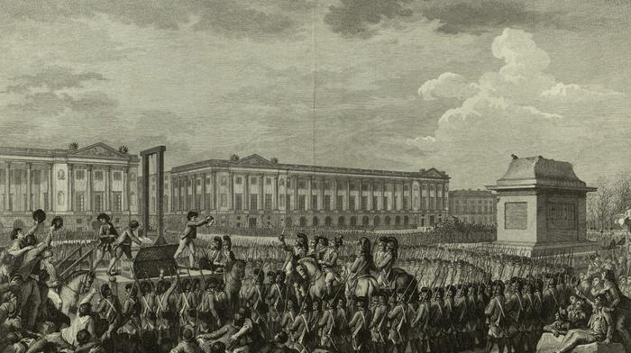 french revolution, guillotine, Isidore, Stanislas Helman, Louis XVI, beheading, soldier