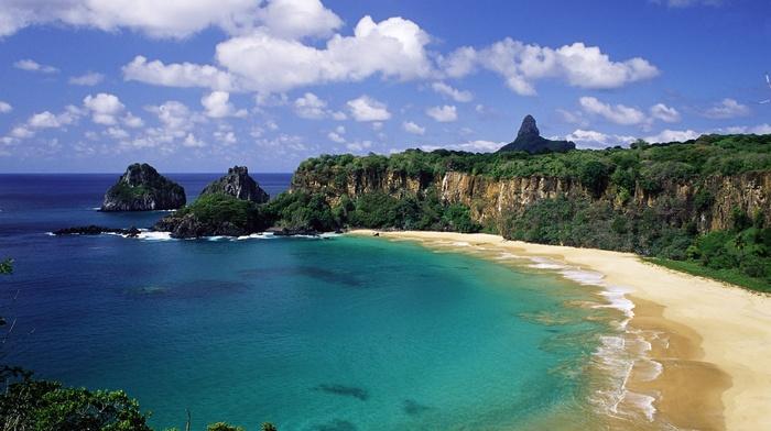 beach, Brazil, cliff