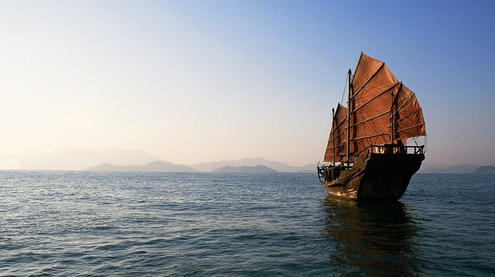 boat, China, sea
