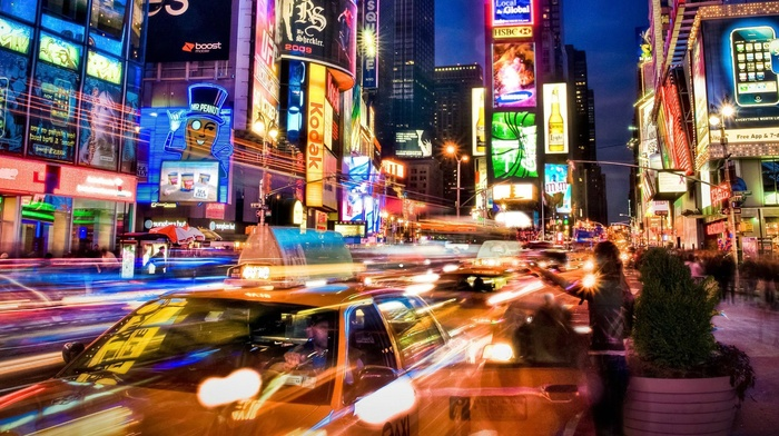 New York City, city, neon, street