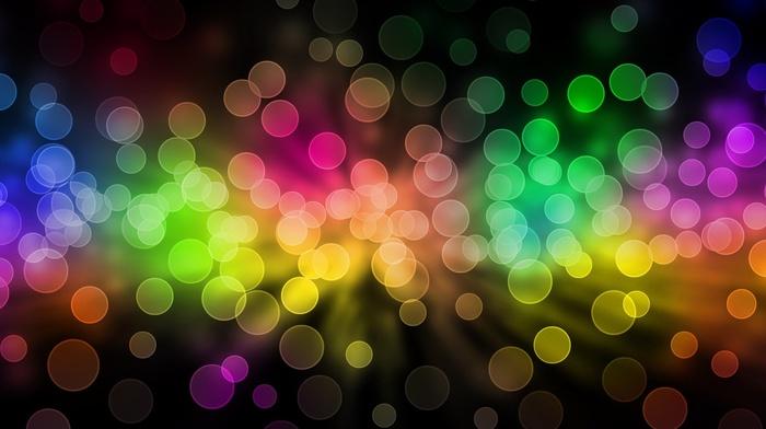 sphere, colorful, bubbles, bokeh