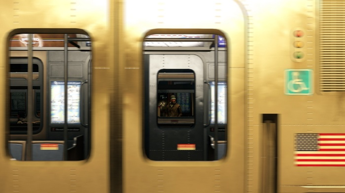 window, metro, train, motion blur