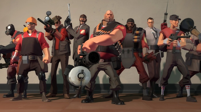 Scout TF2, Sniper TF2, Scout character, Team Fortress 2, video games, Heavy charater, Soldier TF2, Spy character, Demoman, Pyro TF2, Pyro character, Engineer TF2, Engineer character, Medic TF2