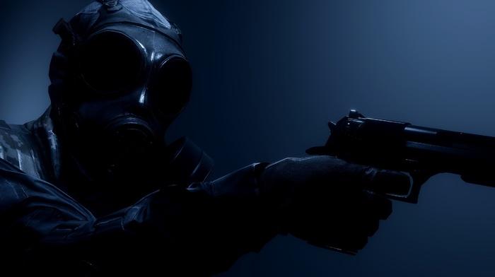 gas masks, military, soldier, gun