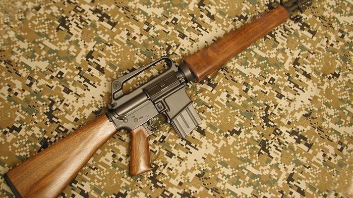 rifles, gun, AR, 15, wood, assault rifle, 5.56, military