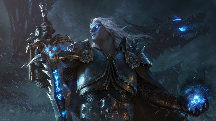 world of warcraft wrath of the lich king, World of Warcraft, Arthas Menethil, lich king, video games, dragon